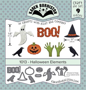 Halloween elements, dies, Karen Burniston.