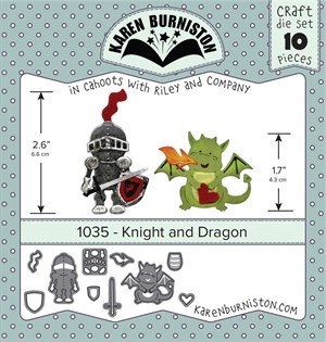 Knight and dragon, dies, Karen Burniston.