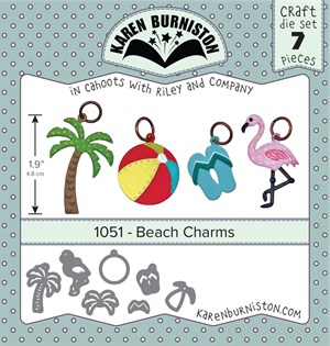 Beach charms, dies, Karen Burniston.
