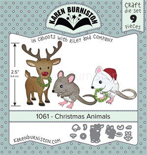 Christmas animals, dies, Karen Burniston.