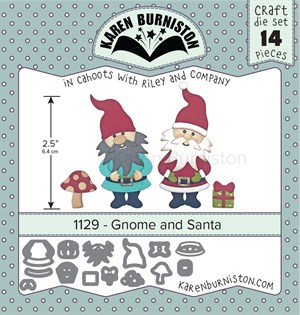 Gnome and santa, dies, Karen Burniston.