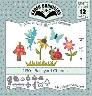 Backyard charms, dies, Karen Burniston.