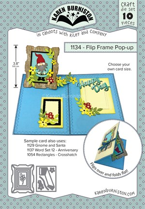 Flip frame pop-up, dies, Karen Burniston.
