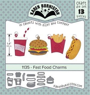Fast food charms, dies, Karen Burniston.