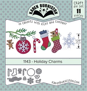 Holiday charms, dies, Karen Burniston.