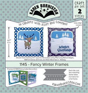 Fancy winter frames, dies, Karen Burniston.