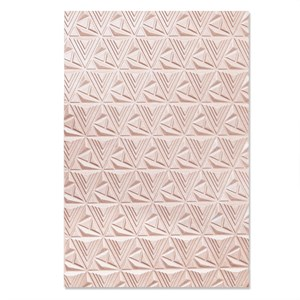 Geometric lattice, 3d-embossing folder fra Sizzix/Tim Holtz