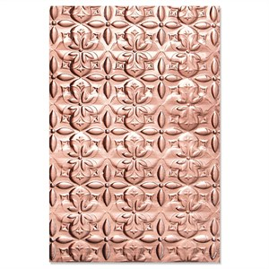 Adorned tile, 3d-embossing folder fra Sizzix/Tim Holtz