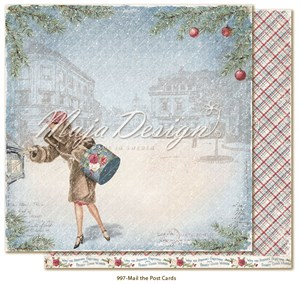 Christmas season, mail the post cards