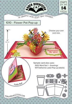 Flower pot pop-up, dies, Karen Burniston.