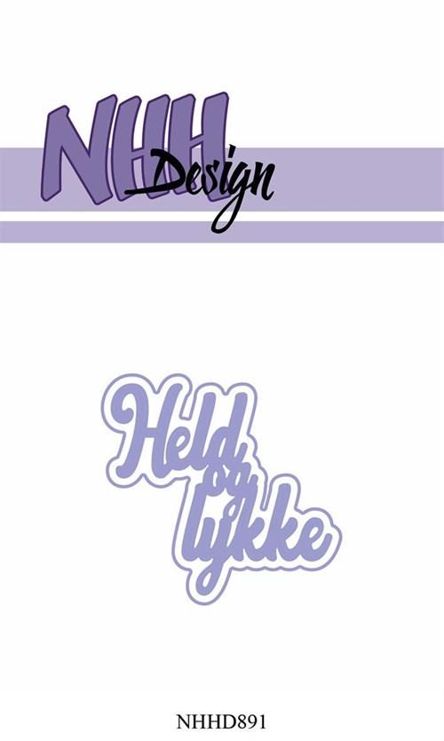 Held og lykke, tekst med skygge, dies, nnh-design.
