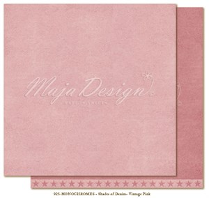 Shades of Demin monochromes, vintage pink