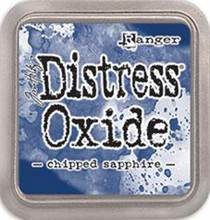 Chipped sapphire, Distress, oxide pad, Tim Holtz.
