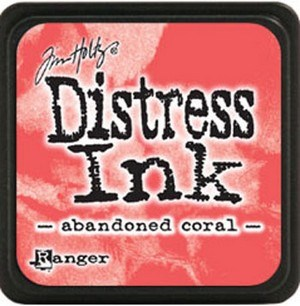 Abandened coral, Distress, mini pad, Tim Holtz.