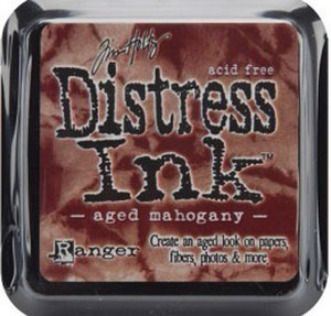 Aged mahogany, Distress, mini pad, Tim Holtz.