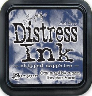 Chipped sapphire, Distress, mini pad, Tim Holtz.