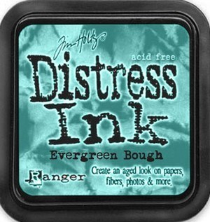 Evergreen bough, Distress, mini pad, Tim Holtz.