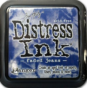 Faded jean, Distress, mini pad, Tim Holtz.