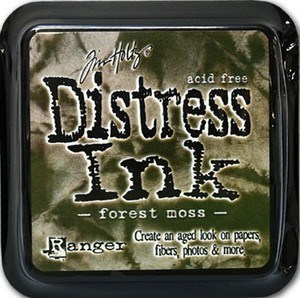 Forest moss, Distress, mini pad, Tim Holtz.