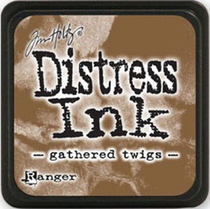 Gathered twings, Distress, mini pad, Tim Holtz.