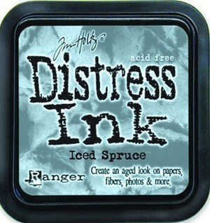 Iced spruce, Distress, mini pad, Tim Holtz.
