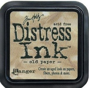 Old paper, Distress, mini pad, Tim Holtz.