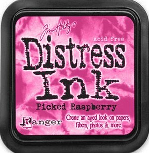 Picked raspberry, Distress, mini pad, Tim Holtz.