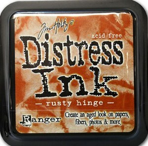 Rusty hinge, Distress, mini pad, Tim Holtz.