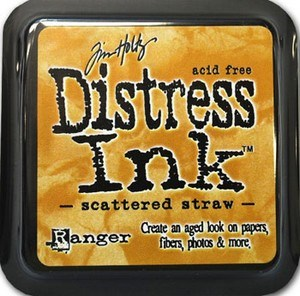 Scattered straw, Distress, mini pad, Tim Holtz.