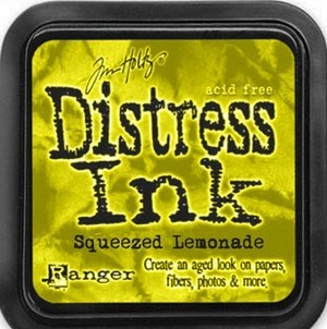 Squeezed lemonade, Distress, mini pad, Tim Holtz.