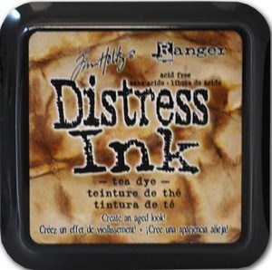 Tea dye, Distress, mini pad, Tim Holtz.