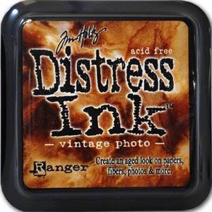 Vintage photo, Distress, mini pad, Tim Holtz.