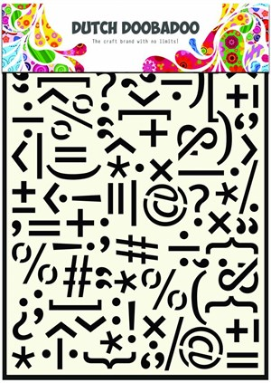 Punctuation Marks A5 mask Dutch Doobadoo stencils*