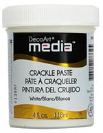 Crackle paste - hvid - DecoArt media