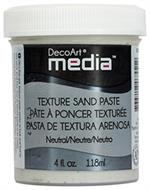 Texture sand paste - neutral - DecoArt media