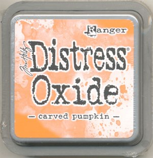 Carved pumpkin Distress oxide stempelfarve