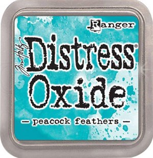 Peacook feathers Distress oxide stempelfarve