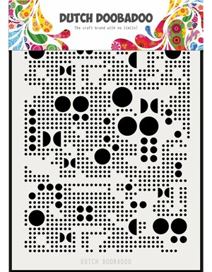 Dots, prikker, runde, A5, mask. media, Dutch Doobadoo.