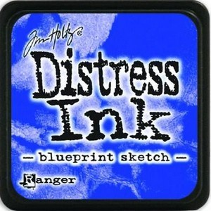 Blueprint sketch, Distress, mini pad, Tim Holtz.