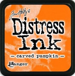 Carved pumpkin, Distress, mini pad, Tim Holtz.