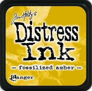 Fossilized amber, Distress, mini pad, Tim Holtz.