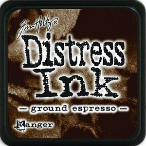 Ground espresso, Distress, mini pad, Tim Holtz.