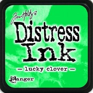 Lucky clover, Distress, mini pad, Tim Holtz.