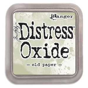 Old paper, Distress, oxide pad, Tim Holtz.