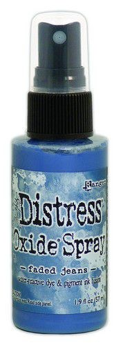 Distress Oxide Spray, Tim Holtz, faded jeans