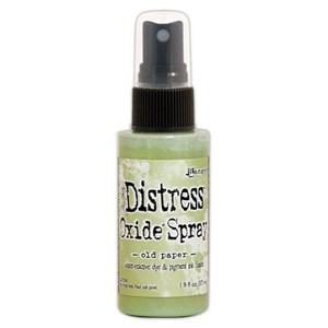 Distress Oxide Spray, Tim Holtz, old paper