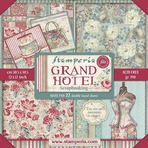 Grand Hotel, scrapbooking pakning, stampia, 10 ark