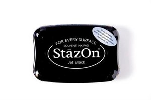StazOn, stempelfarve - Jet black