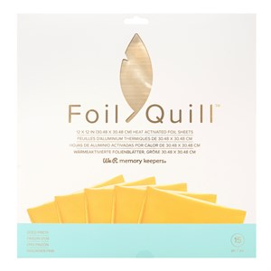Gold foil sheets fra memory keepers
