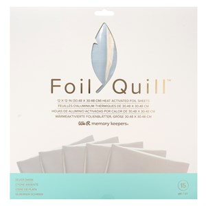 Silver foil sheets fra memory keepers